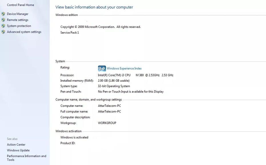 Activate Windows 7 Home Premium