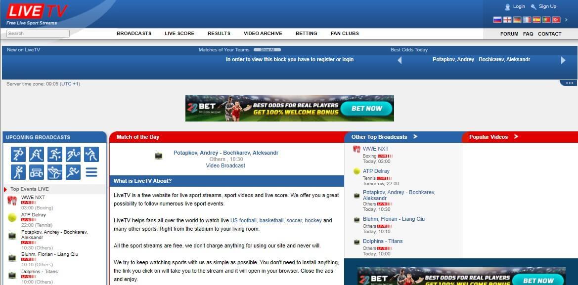 LiveTV Sports