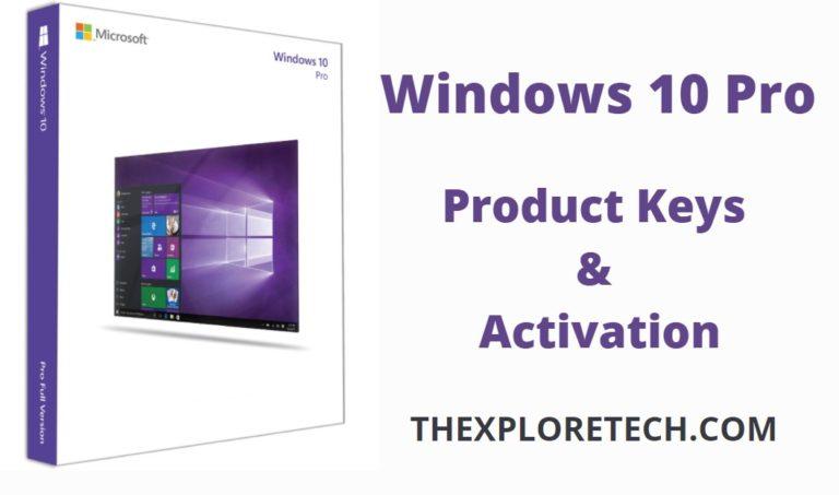 Free Windows 10 Pro Product Key