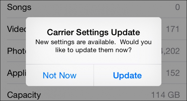 Carrier Setting Updates