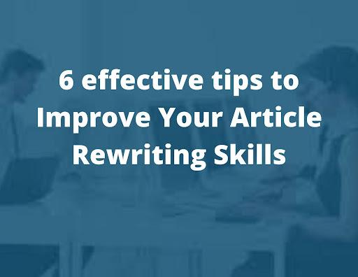 Article Rewriting Skills